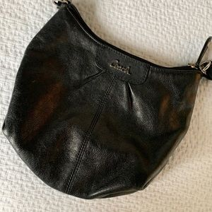 COACH Black Leather Crossbody Purse